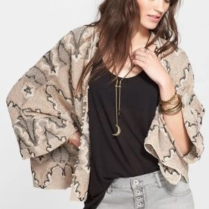 Free People Butterfly Sleeve Boho Kimono Size XS
